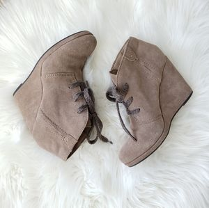 Tan Dolce Vita Ankle Booties Wedges